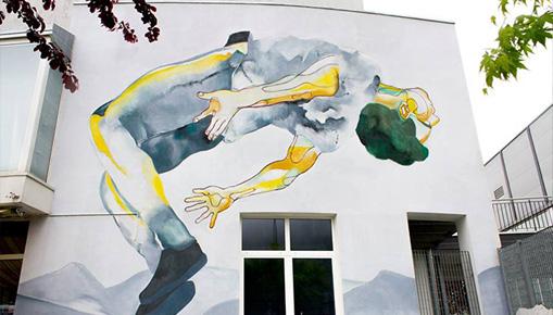Egeon Mantra - (Ed è subito sera), murale a Laives (BZ)