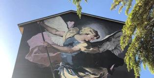 Andrea Ravo Mattoni - (San Michele di Luca Giordano), murale realizzato per il progetto Street Art Misteri a Campobasso.