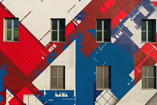 Zedz - The geometric abstract space (Pattern), Poli Urban Colors, Politecnico di Milano