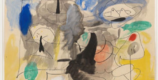 ARSHILE GORKY - Untitled, 1945-1946. Ink and oil on paper, cm 48,3 x 61. Private collection