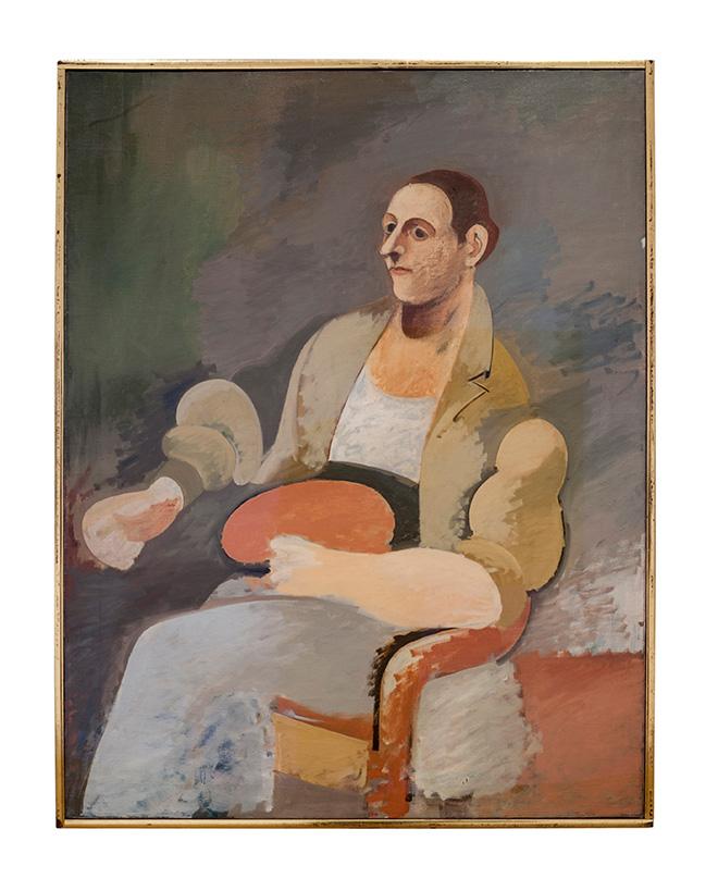 ARSHILE GORKY - Portrait of Master Bill / Ritratto di Master Bill ca. 1937. Oil on canvas, 132.4 x 101.9 cm, Private collection / Collezione privata.