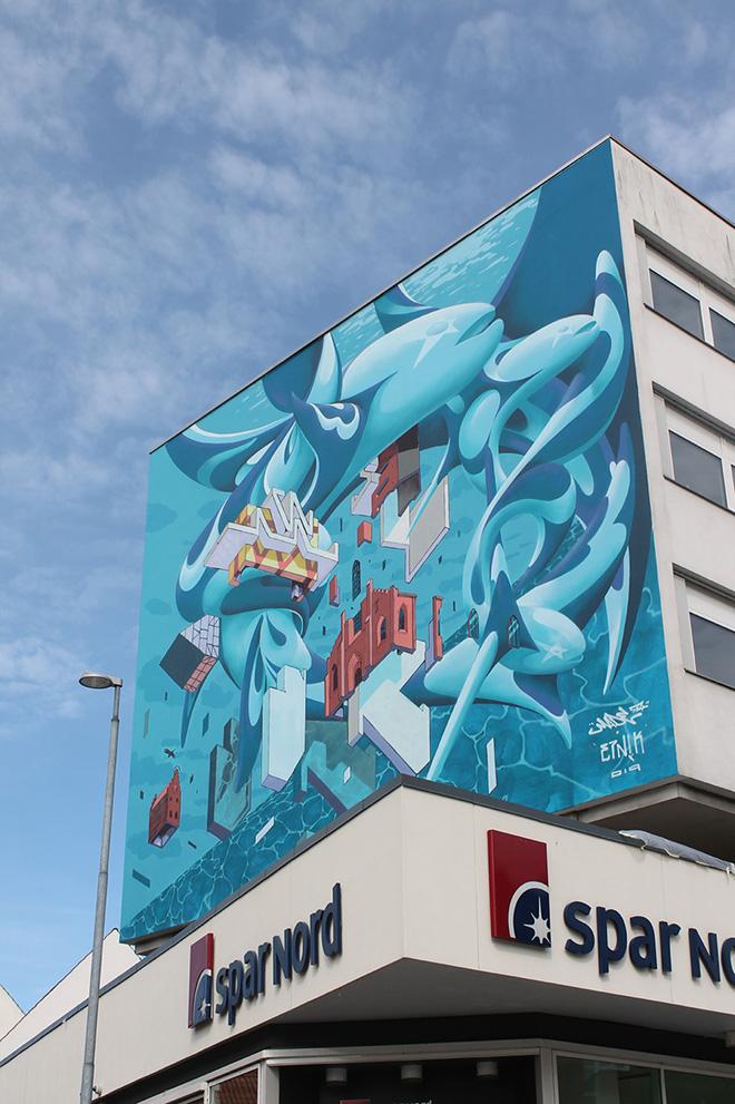 ETNIK + Made514 - Murale a Randers, Danimarca, 2019