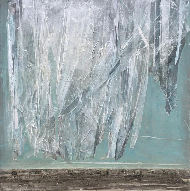 Andrea Mariconti - Aurora 4, cm 100x100, tecnica mista su tela