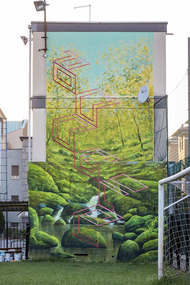 BOOGIE.EAD e GABRIELE BONATO Padova - Istituto Rogazionisti (Quartiere Arcella), opera su muro