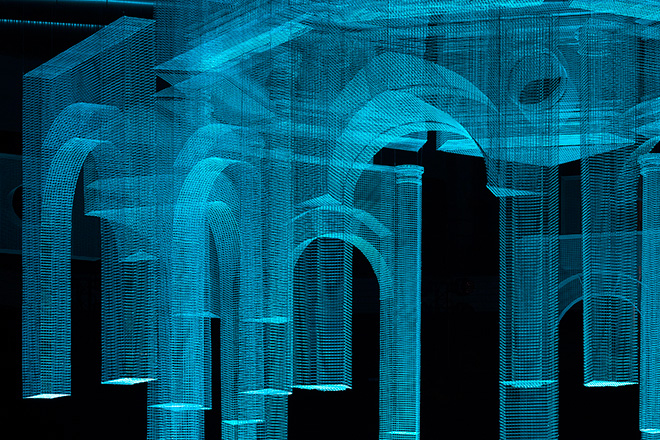 Edoardo Tresoldi - Installation Marcelo Burlon fashion show. photo credit: ©Roberto Conte