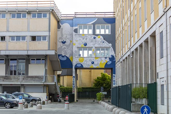 MADE514 Padova - Nido d'Infanzia c/o Istituto Rogazionisti (Quartiere Arcella), opera su muro