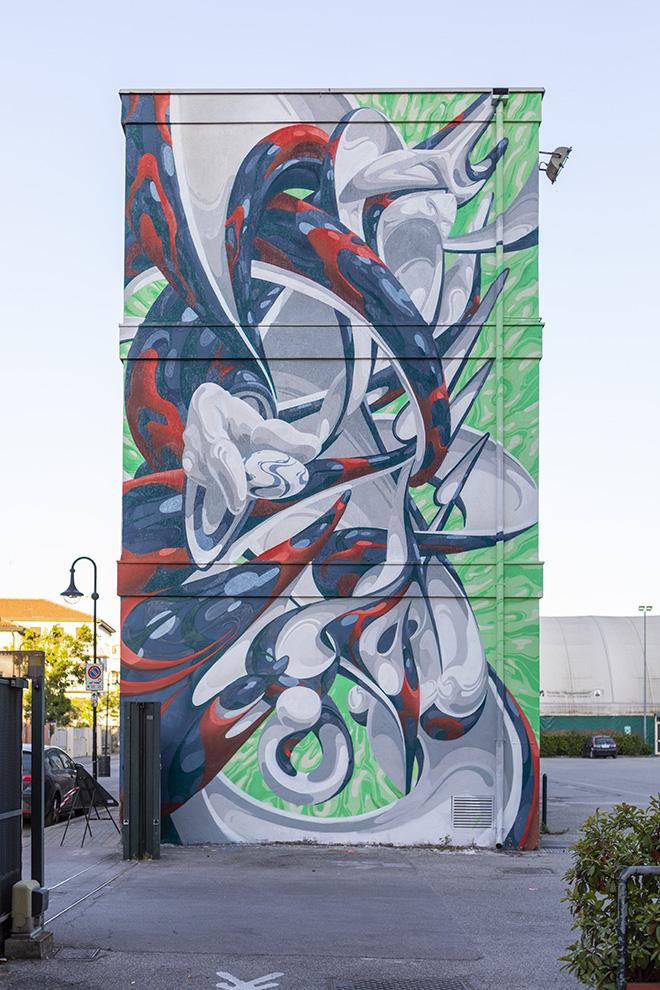 MADE514, Padova - Istituto Rogazionisti (Quartiere Arcella), opera su muro