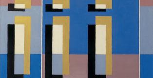 Mario Radice - Composizione C.F. 123 B, 1936-1938, olio su tela, cm 66x72, Pinacoteca Civica di Como.
