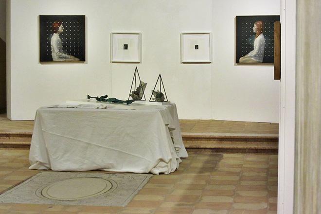 Andrea Mariconti - Oltre l'interferenza, installation view, Auditorium San Giovanni, Torri del Benaco (VR)