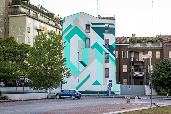 ORION - Padova, Palazzo Bellini (Condominio privato in Zona Fiera), opera su muro.