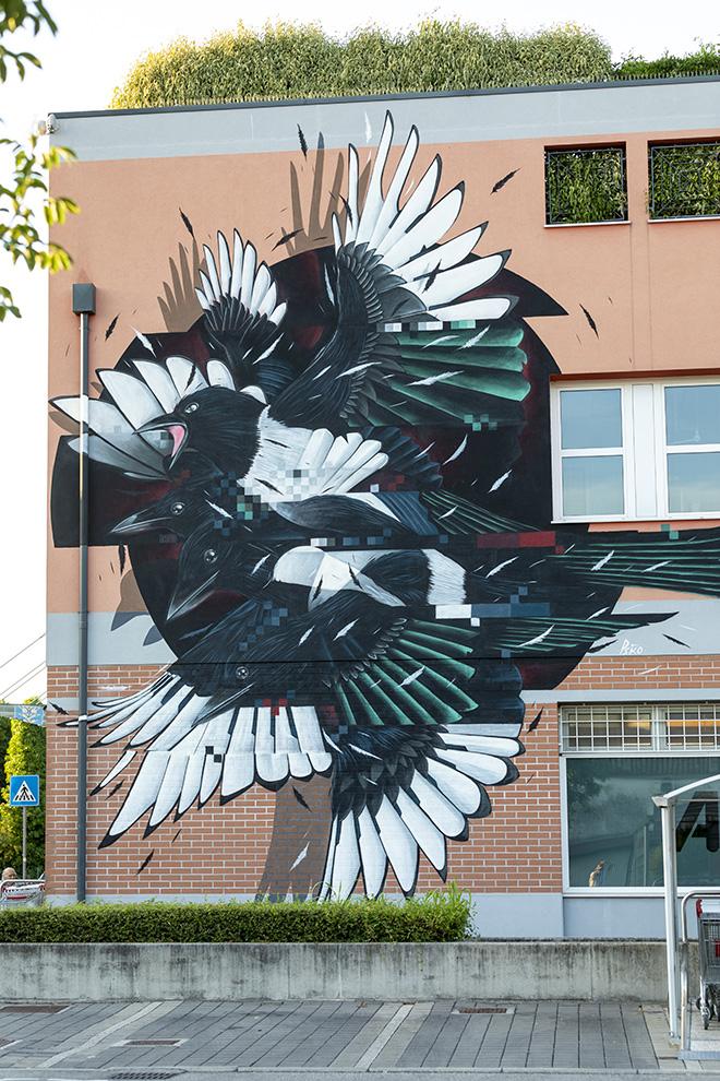 PSIKO: Padova, Alì Supermercati (Negozio Terranegra), opera su muro