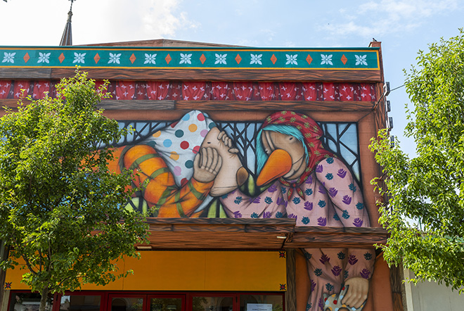 TONY GALLO: Padova - Cinema Rex (Quartiere S. Osvaldo), opera su muro