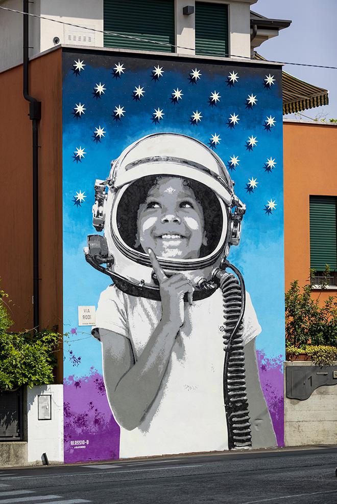 ALESSIO-B: Padova - Abitazione privata (Quartiere Sacra Famiglia), opera su muro.