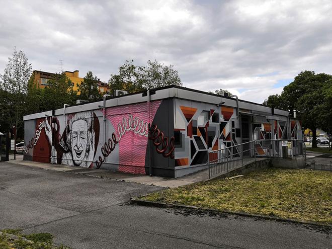 Alessio Bolognesi, Stefano Capozzi - Murale, sede di CGIL-SPI e APE, viale Krasnodar, Ferrara