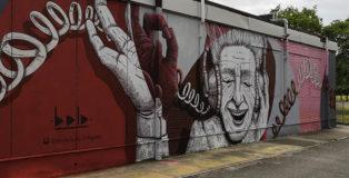 Alessio Bolognesi - Murale, sede di CGIL-SPI e APE, viale Krasnodar, Ferrara
