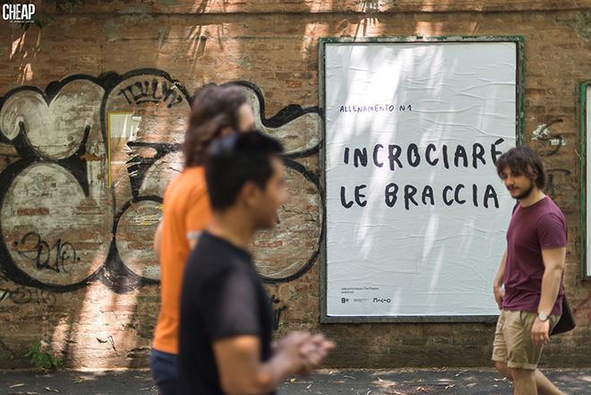 CHEAP + Santarcangelo festival + MACAO - La Street Poster Art (Slow & Gentle). photo credit: Michele Lapini