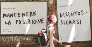 CHEAP + Santarcangelo festival + MACAO - La Street Poster Art (Slow & Gentle). photo credit: Michele Lapini