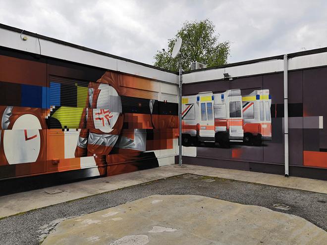 Psiko, Edoardo Mendez - Murale, sede di CGIL-SPI e APE, viale Krasnodar, Ferrara