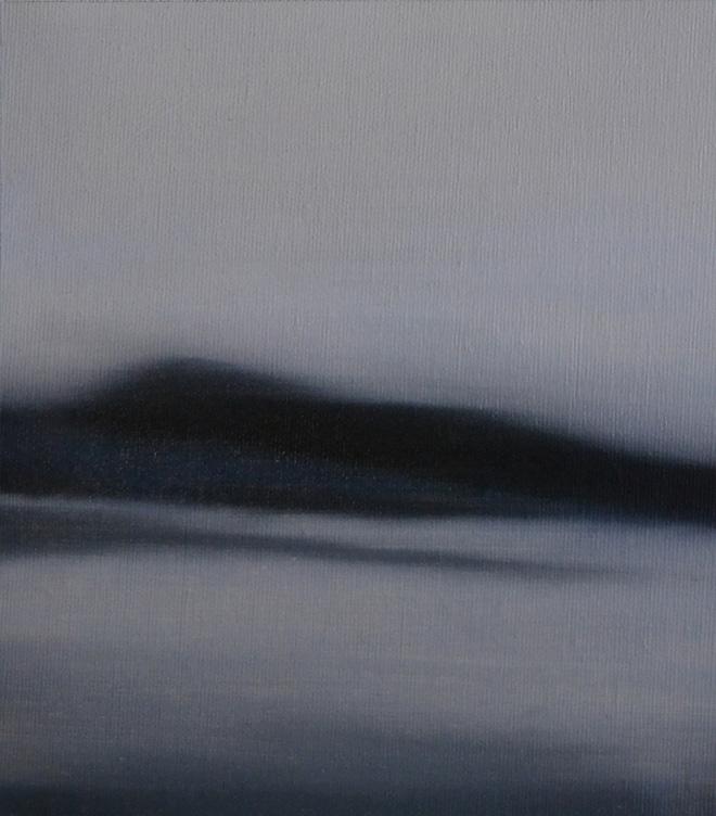 Lorenzo Galuppo - Paesaggio, 2018, acrilico e olio flatting su tela, 22x19,5