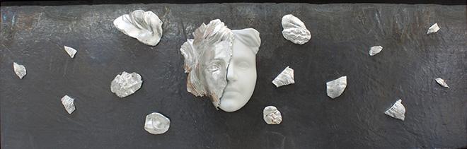 Michelangelo Galliani - Explosion. Carrara Marble, steel and lead 113 x 37 x 12 cm - Contini Contemporary
