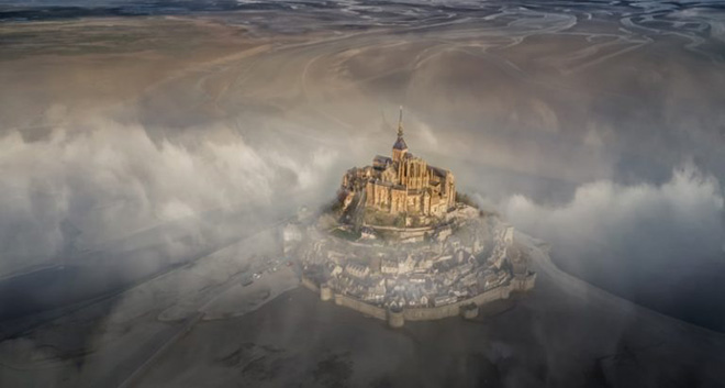Deryk Baumgärtner - Mont Saint Michel, Commended Urban category, Drone Awards 2019