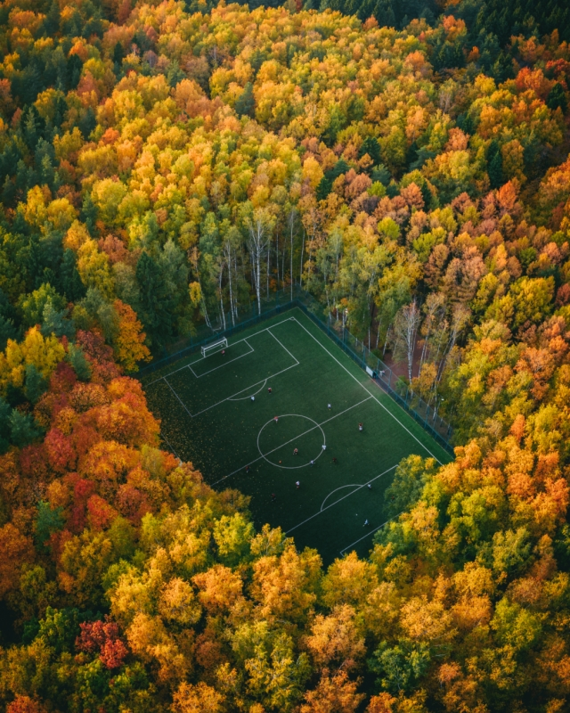 Yura Borschev - Soccer in the Woods, Highly Commended Sport category, Drone Awards 2019