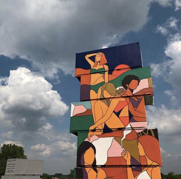 Zenk One - North West Walls 2019, Werchter (Belgium), Container Graffiti