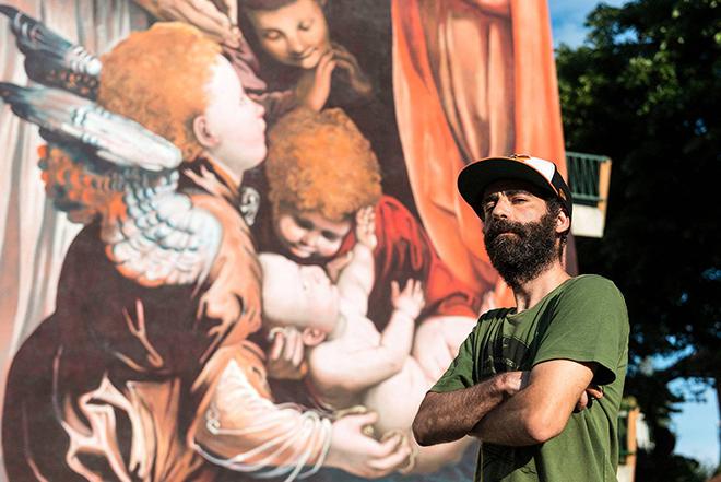 Andrea Ravo Mattoni - murale omaggio a Gaudenzio Ferrari, Varallo, 2019