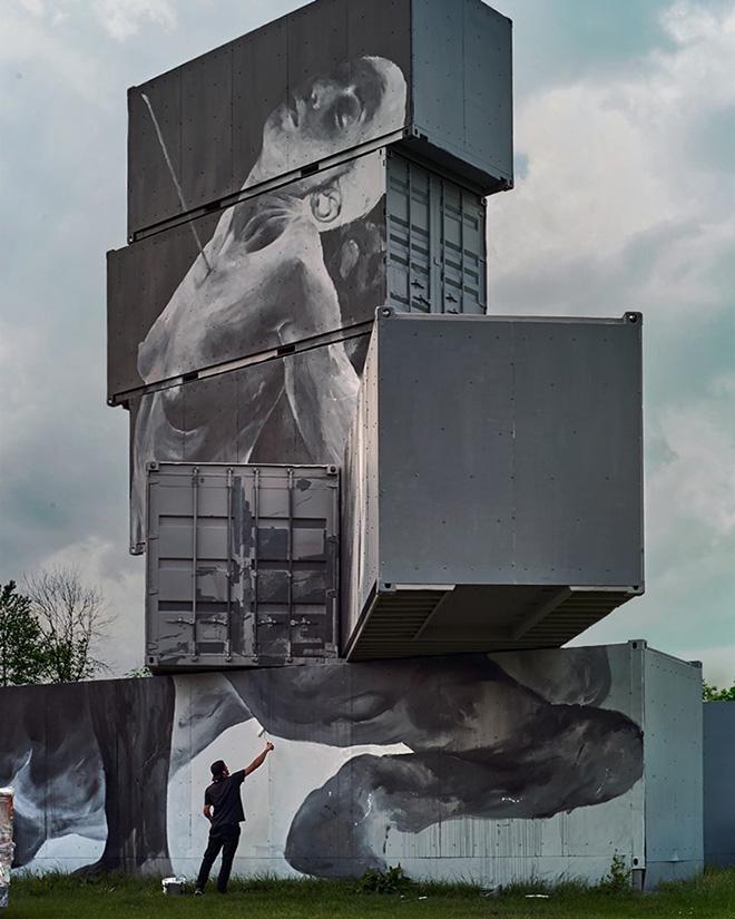 Bosoletti - North West Walls 2019, Werchter (Belgium), Container Graffiti