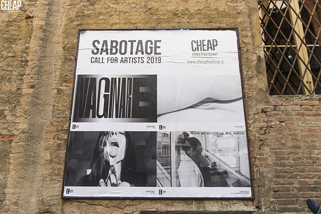 SABOTAGE - CHEAP street poster art: guerrilla semiologica a Bologna. photo credit: Michele Lapini