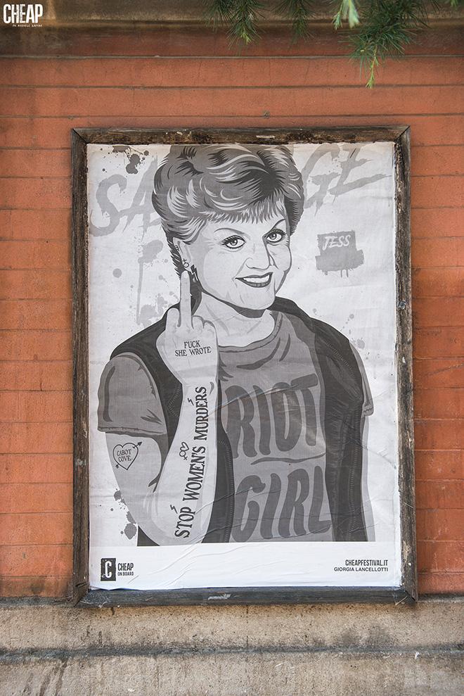 SABOTAGE - CHEAP street poster art: guerrilla semiologica a Bologna. photo credit: Michele Lapini