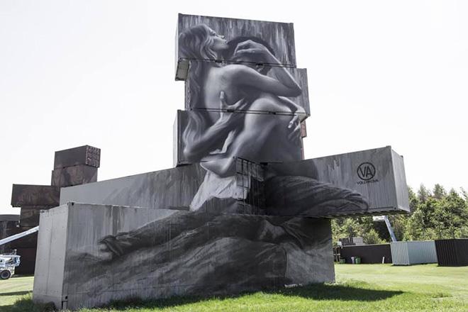 Julia Volchkova - North West Walls 2019, Werchter (Belgium), Container Graffiti