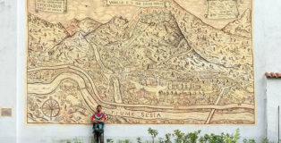 Matteo Ufocinque Capobianco - Mappa Varallo, Waral mural project, 2019