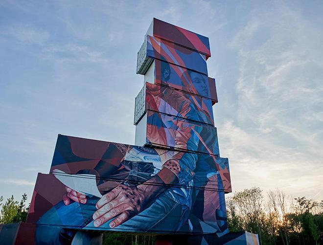 Sckaro - North West Walls 2019, Werchter (Belgium), Container Graffiti