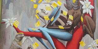 Zed1 - Il mondo dietro gli impegni, murale a Laives (Bz), 2019