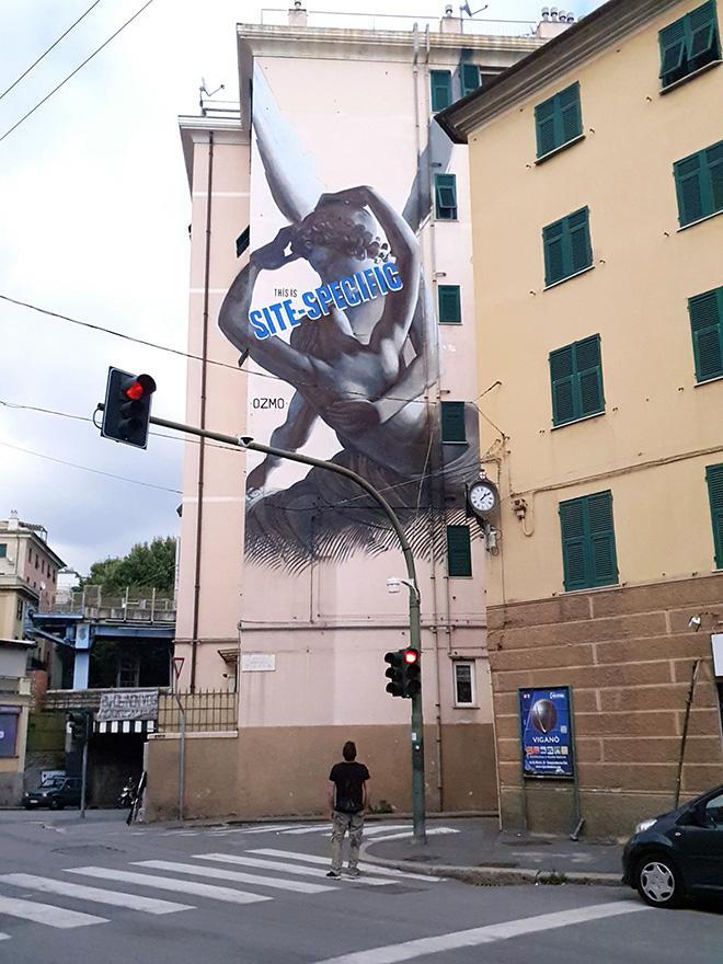 OZMO, murale a Genova Certosa - On The Wall Project. photo credit: Matteo Fontana