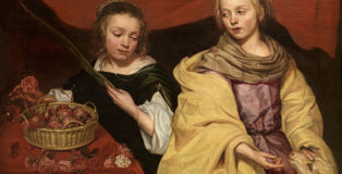 Michaelina Wautier, Two Girls as Saints Agnes and Dorothy, Royal Museum of Fine Arts Antwerp (KMSKA) © Royal Museum of Fine Arts Antwerp www.lukasweb.be - Art in Flanders, photo Hugo Maertens