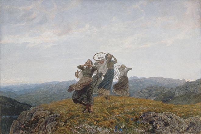 Luigi Rossi - Il canto dell'aurora, 1910-1912. Olio su tela, 125.7 x 187.5 cm. MASI Lugano, Collezione Città di Lugano.