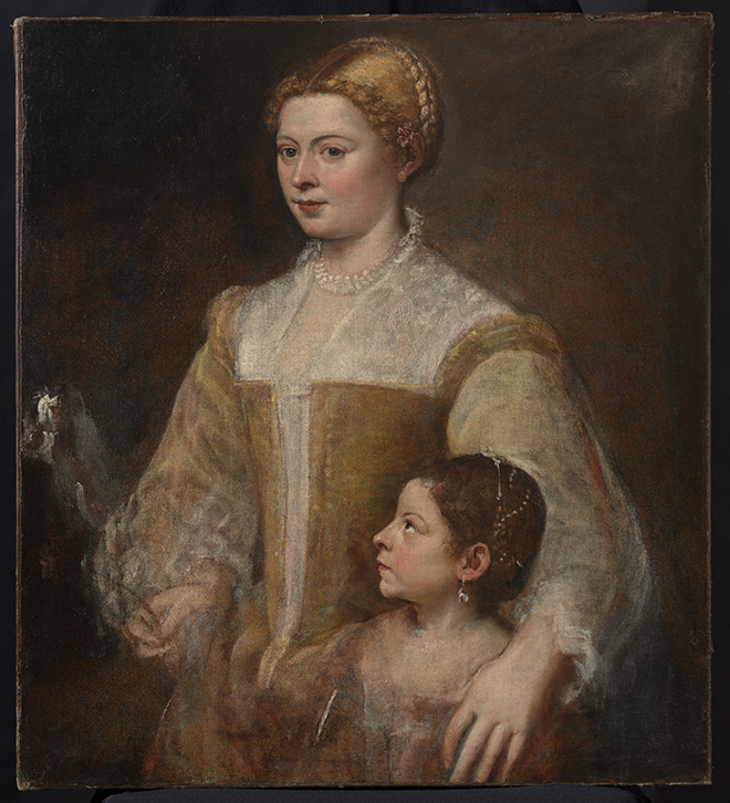 Titian, Portrait of a Lady and her Daughter, Private collection, on loan to the Rubenshuis, Antwerp © Collectie Stad Antwerpen