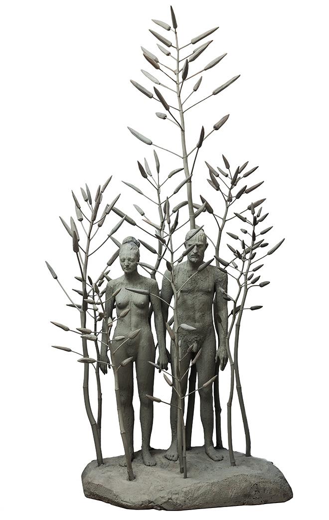 Giuseppe Agnello, PALUDE / Composizione 2, 2018. resina poliestere, legno e polistirolo cm 140 x cm 270 x cm 100. Photo Credit: Angelo Pitrone