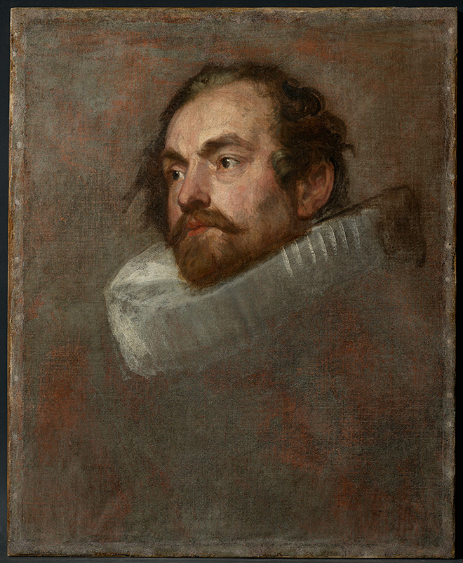 Anthony van Dyck, Head Study for the Portrait of an Alderman, Private collection, on loan to the Rubenshuis, Antwerp © Collectie Stad Antwerpen, photo:  KIK-IRPA, Brussels