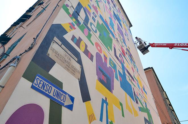 Geometric Bang - ON THE WALL project, Genova Certosa. photo credit: Matteo Fontana