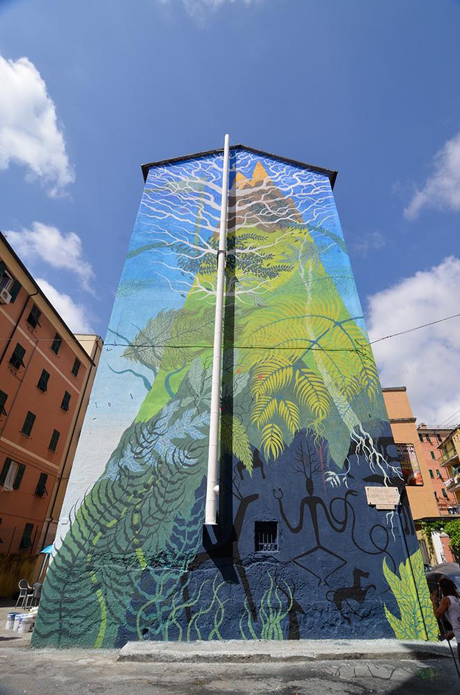 Gola Hundun - ON THE WALL project, Genova Certosa. photo credit: Matteo Fontana