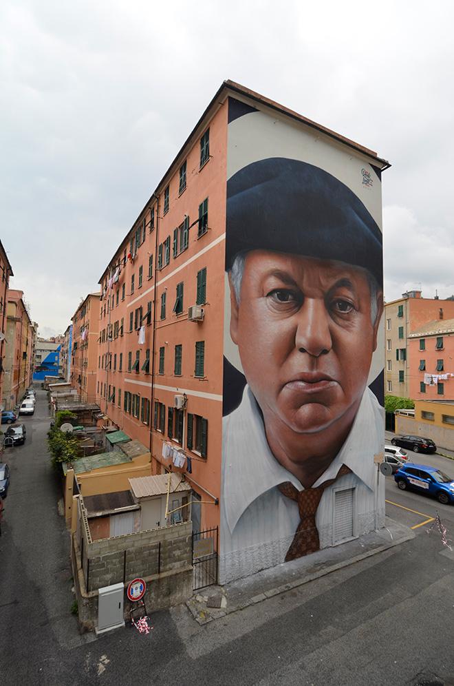 Rosk & Loste, ON THE WALL project - Riqualificazione urbana a Genova Certosa