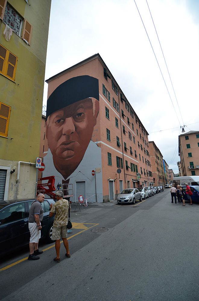 Rosk & Loste - ON THE WALL project, Genova Certosa. photo credit: Matteo Fontana