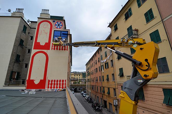 Agostino Iacurci - ON THE WALL project, Genova Certosa. photo credit: Matteo Fontana