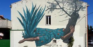 Nicola Alessandrini - Murale, Santa Croce di Magliano (CB). Premio Antonio Giordano Street Art, 2019.