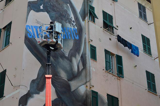 Ozmo - ON THE WALL project, Genova Certosa. photo credit: Matteo Fontana