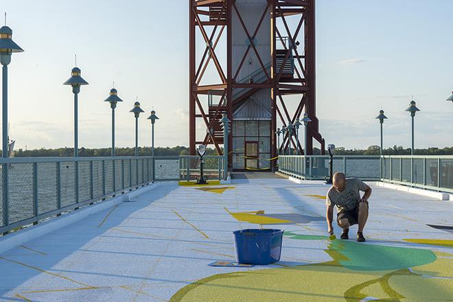 Sat One - Flotsam, Observation deck of Dobbin's Landing, Erie, Pennsylvanie. photo credit: Iryna Kanishcheva