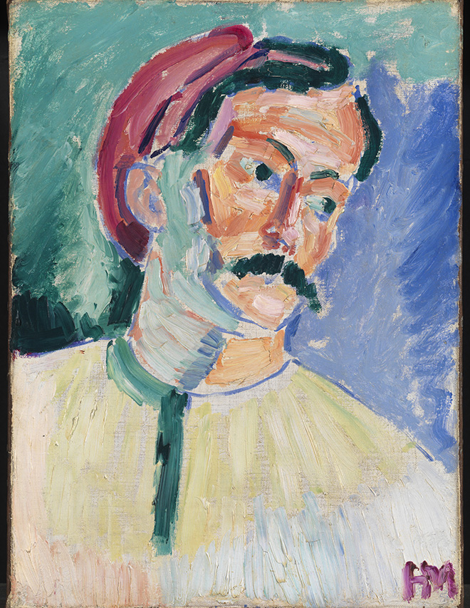 Henri Matisse (Le Cateau-Cambrésis 1869-Nizza 1954), André Derain 1905, olio su tela, cm 39,4 x 28,9. Londra, Tate, N06241. Acquistato grazie al Knapping Fund, all'Art Fund, alla Contemporary Art Society e a sottoscrittori privati, 1954. © Tate, London 2019. © Succession H. Matisse, by SIAE 2019